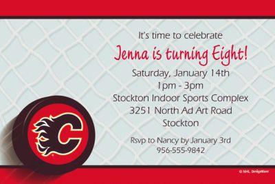 Calgary Flames Custom Invitation