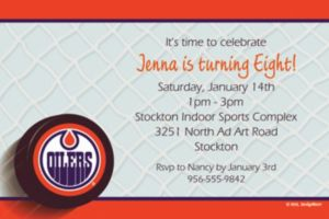 Custom Edmonton Oilers Invitations