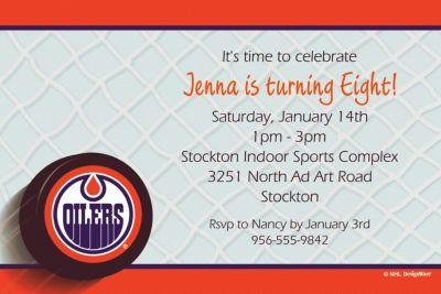 Edmonton Oilers Custom Invitation