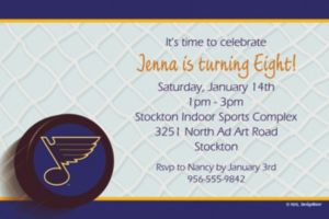 Custom St. Louis Blues Invitations