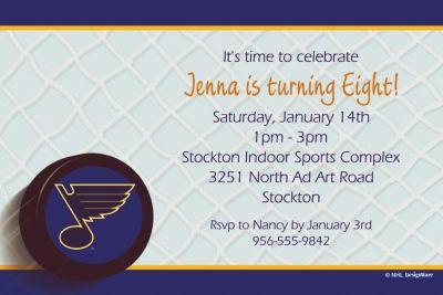 St. Louis Blues Custom Invitation