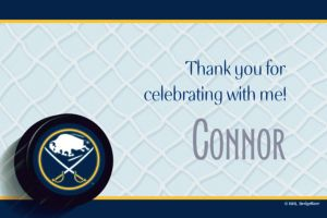 Custom Buffalo Sabres Thank You Notes