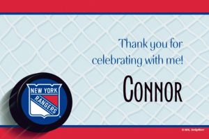 Custom New York Rangers Thank You Notes