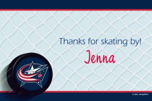 Custom Columbus Blue Jackets Thank You Notes