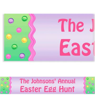 Custom Happy Easter Egg Banner 6ft