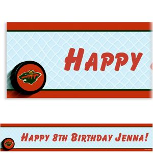 Custom Minnesota Wild Banner 6ft