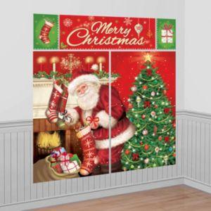 Santa Claus Scene Setters 5pc