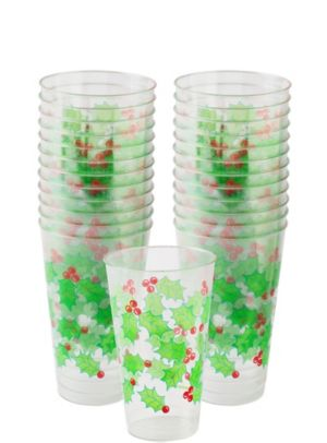 Large Holly Tumblers 25ct