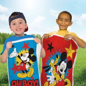 Mickey Mouse Potato Sack Race Bags 4ct