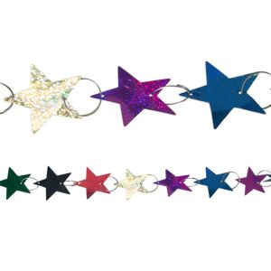 Prismatic Colorful Star Ring Garland