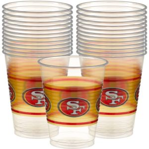 San Francisco 49ers Plastic Cups 25ct