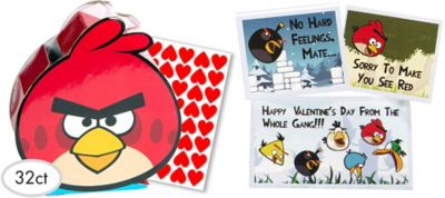 Angry Birds Valentines Day Cards 32ct