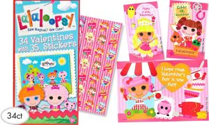 Lalaloopsy Valentine Exchange Cards with Stickers 34ct