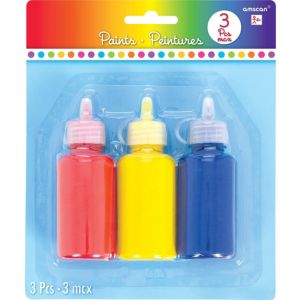 Primary Color Paints 3ct