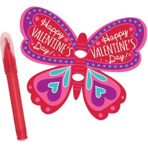 Butterfly Valentine Exchange Cards with Mini Pens 12ct