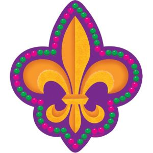 Mardi Gras Fleur De Lys Cutout 8in
