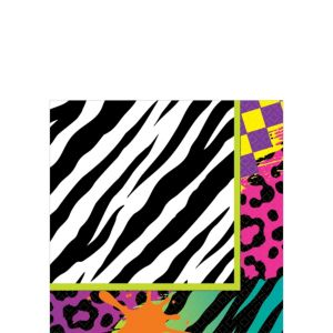 Totally 80s Beverage Napkins 16ct