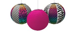 Totally 80s Paper Lanterns 3ct