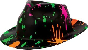 Totally 80s Paint Splatter Fedora