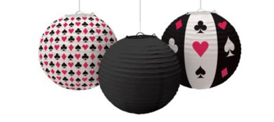 Place Your Bets Casino Paper Lanterns 3ct