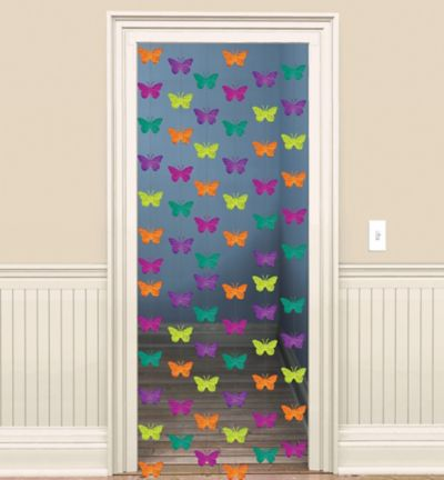 Spring Butterfly String Decorations 6ct