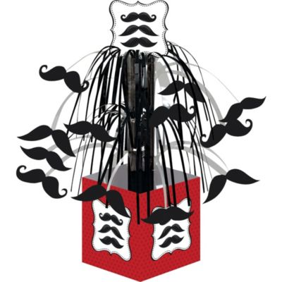 Moustache Cascade Centerpiece 8in