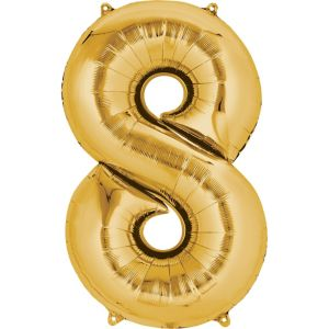 Number 8 Balloon - Gold