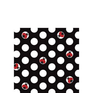 Fancy Ladybug Beverage Napkins 16ct