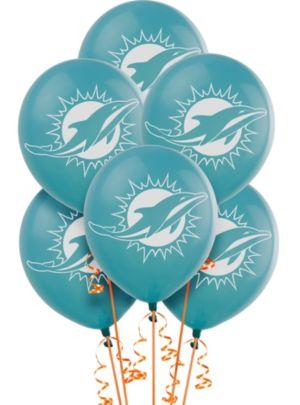 Miami Dolphins Balloons 6ct