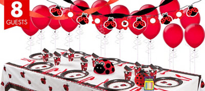 Ladybug Fancy 1st Birthday Party Supplies Super Party Kit