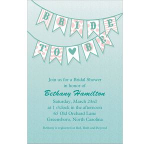 Custom Bride to Be Flags Bridal Shower Invitations