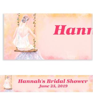 Custom Bridal Swing Bridal Shower Banner 6ft