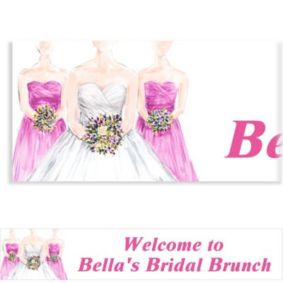 Custom Bridesmaids Bridal Shower Banner 6ft