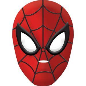 Child Plastic Spider-Man Mask Deluxe
