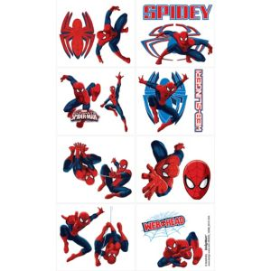 Spider-Man Tattoos 1 Sheet