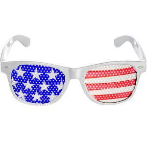 Patriotic American Flag Printed Glasses