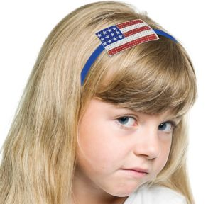 Sequin American Flag Headband