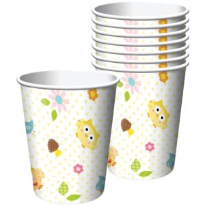 Owl Baby Shower Cups 8ct