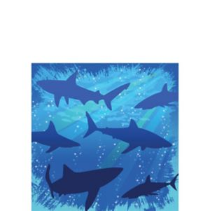 Shark Beverage Napkins 16ct
