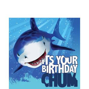 Shark Birthday Lunch Napkins 16ct