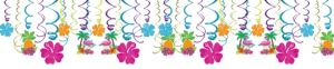Tropical Tiki Swirl Decorations 30ct