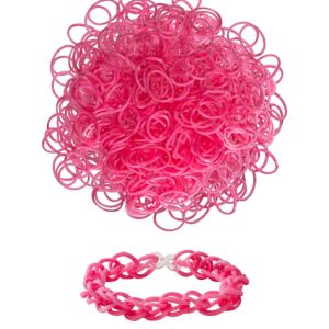 Pink Rubber Loom Bands 300ct