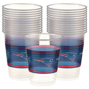 New England Patriots Plastic Cups 25ct