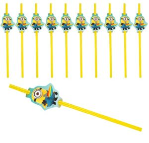 Despicable Me Flexible Straws 24ct