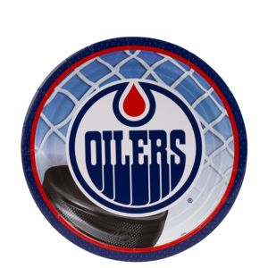 Edmonton Oilers Dessert Plates 8ct