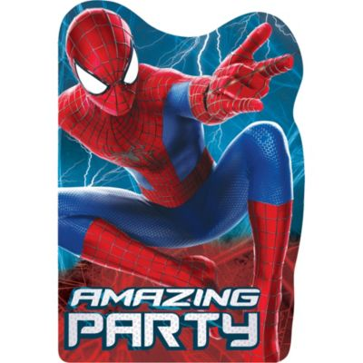 Amazing Spider-Man Invitations 8ct