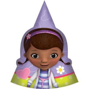 Doc McStuffins Party Hats 8ct