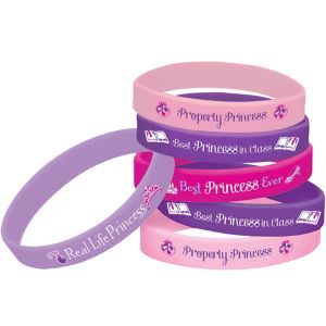 Sofia the First Wristbands 4ct