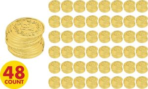 Jake and the Neverland Pirate Gold Coins 48ct