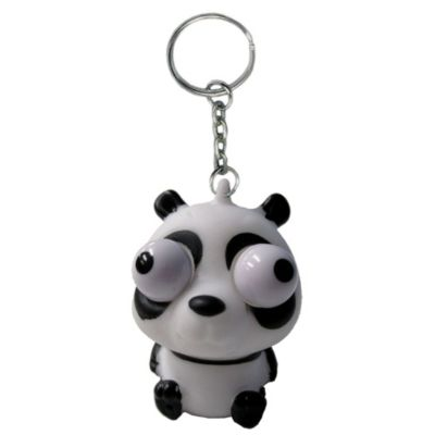 Eye Pop Squeeze Panda Keychain 1 1 2in X 2in Party City